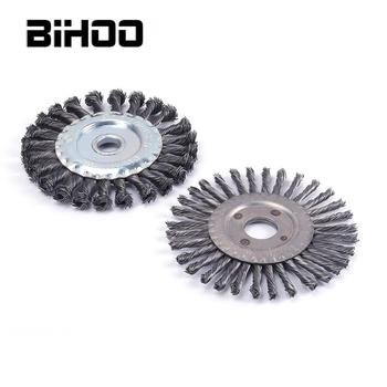 2Pcs/Set 100mm Twisted Wire Wheel Brush Set Knotted Wire Brush for Metal Polishing Cleaning Removing Paint Rust Corrosiont metal stainless steel brush double copper wire brush for tpu pff paint protection self healing test mo a73