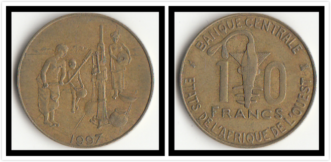 West African 10 Francs Coins Africa Original Coin Collectible Edition Real Rare Commemorative Random Year