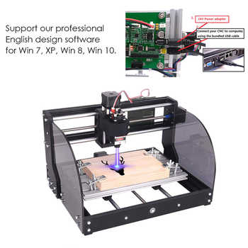 CNC 3018 Pro Max Laser Engraving Machine 3 Axis DIY Mini Wood Router 0.5-15W Woodworking Laser Engraver With Offline Controller