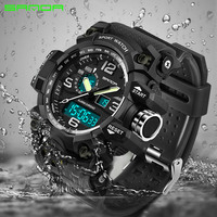 Mode Sanda Top Luxus Sport Marke G Stil männer Militärischen Studenten Mann Uhr Led Digital Wasserdicht Relogio Masculino