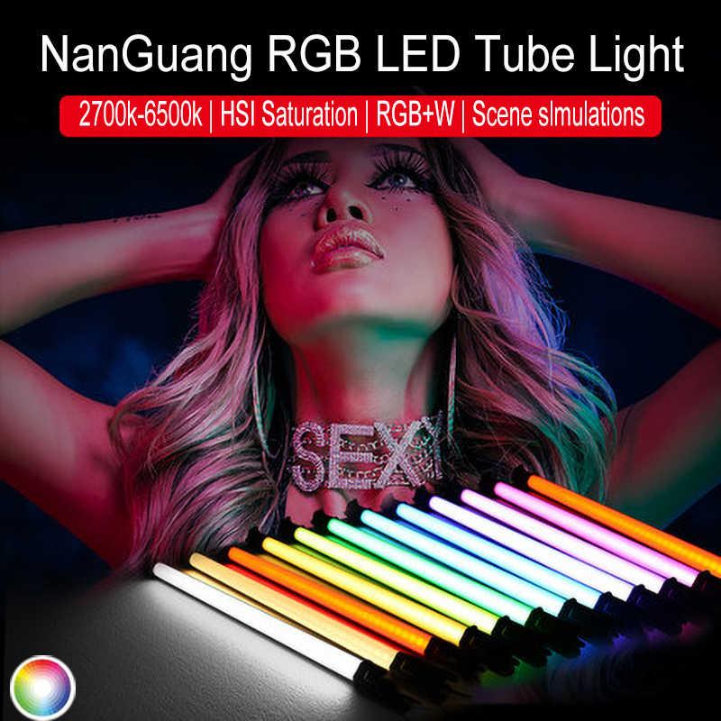 NanGuang NANLITE LED Pavo floresan lamba 15C 30C RGB renkli fotoğrafçılık ışık el ışık çubuğu fotoğraflar Video film Vlog