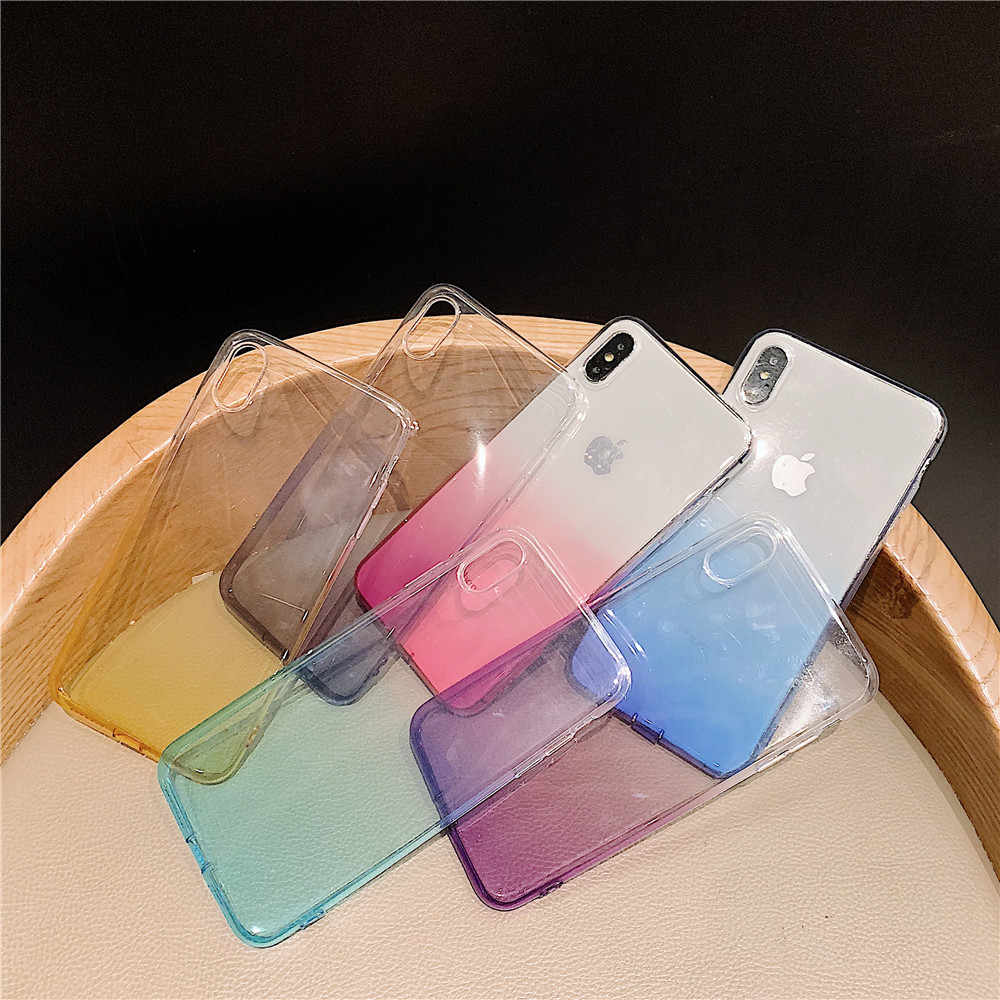 Transparante Kleur Leuke Telefoon Case Voor Iphone 6 6 S 7 8 Plus X Xs Xr Max Soft Tpu Matte cover Voor Iphone 11 Pro Max Luxe Funda