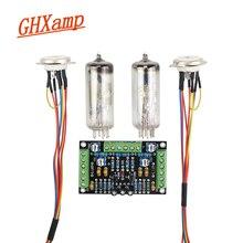 GHXAMP 6E2 kit de placa controladora con indicador de tubo de ojo de gato, indicador de nivel fluorescente de doble canal, amplificador de accionamiento DIY