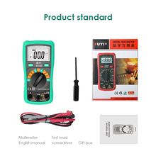 NCV Digital Multimeter Auto Ranging AC/DC voltage meter Current Resistance Voltmeter Ammeter Multi Electrician Tester Continuity lcd digital multimeter dc ac voltage current meter ncv capacitance resistance diode tester voltmeter ammeter ut39c