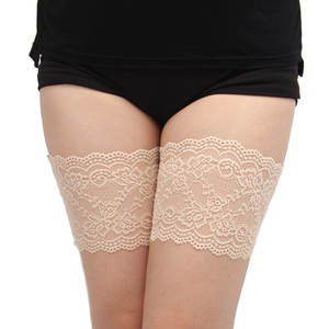 Leg-Warmers Thigh-Bands Slicones Anti-Chafing Women's Summer of No 7-Sizes 2-Rows