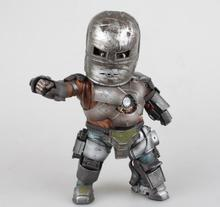 цена на New Hot Marvel Iron Man 3 Mark 1 Egg Attack EAA-003 PVC Action Figure with LED Light Collectible Model Toy 8 20cm