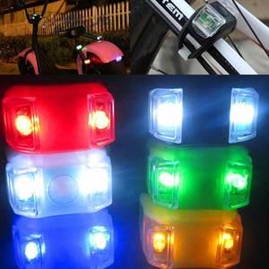 Силиконовый велосипедный светильник s водонепроницаемый велосипедный передний задний рельсовый светильник на руль со светодиодной вспышк...