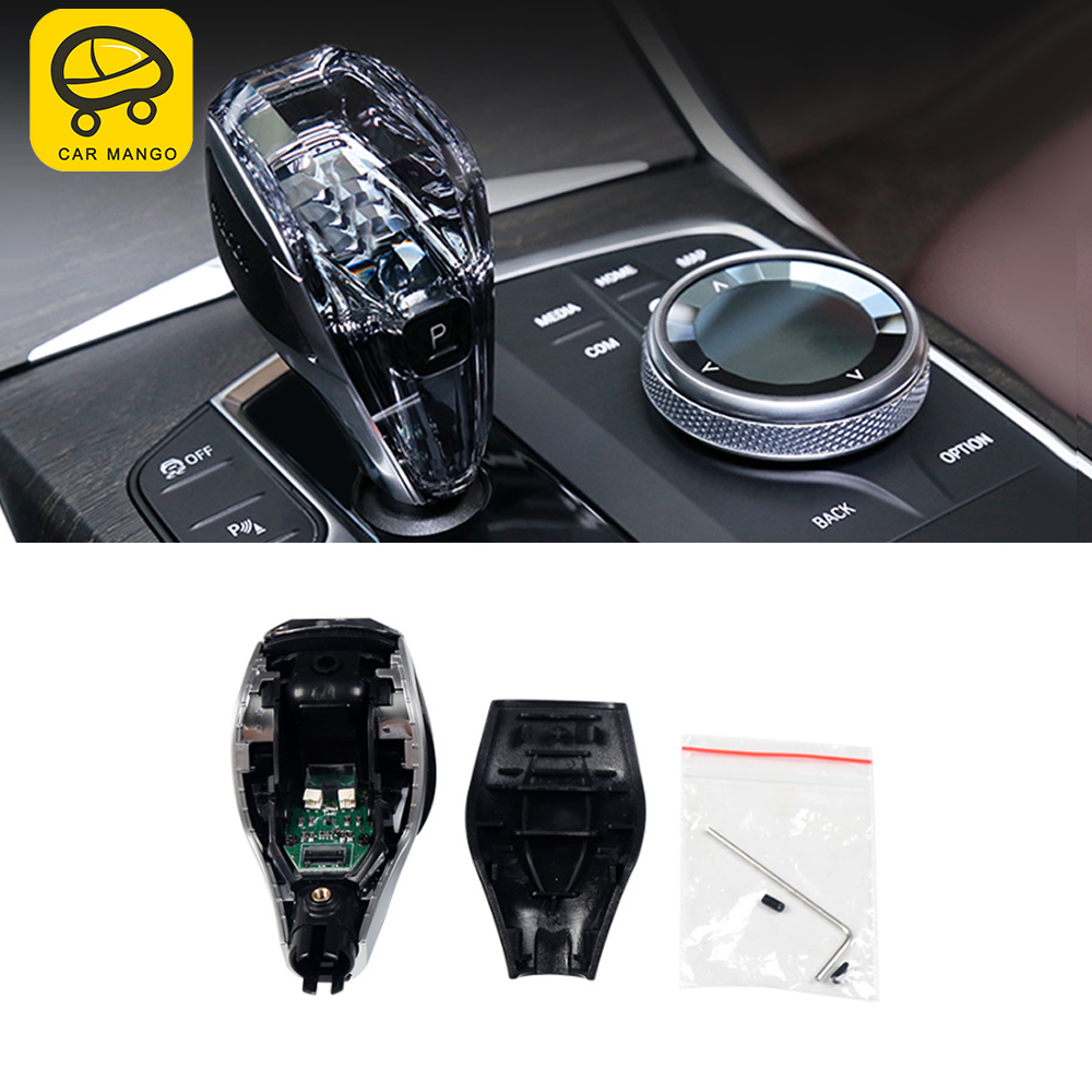 CARMANGO For BMW 3 Series G20 2020 Car Engine Start Button Media Switch Cover Crystal Trim Gear Shift Parts Interior Accessories