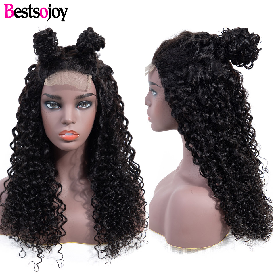 Bestsojoy 13x4 Lace Frontal Human Hair Wigs For Women Kinky Curly 4X4 Lace Closure Wig Human Hair Wigs Remy Brazlian Hair