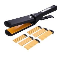 4 в 1 щипцы для завивки волос профессиональные щипцы для завивки волос волнистый выпрямитель гофрированные Обжимные Щипцы завивки Пермь шина Инструменты для укладки 45