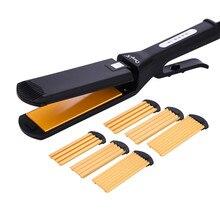 Bigoudis professionnels 4 en 1, bigoudis, lisseur, ondulées, fer à friser, outil de coiffure, perche, 45