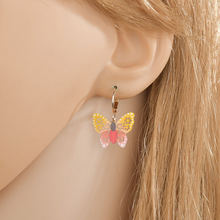 Yada модные серьги в форме бабочки Кристальные массивные для