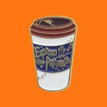 Coffee Enamel Pins Milk Tea Cup Metal Cartoon Brooch Backpack Hat Bag Collar Lapel Badges Men Women Fashion Jewelry Gifts