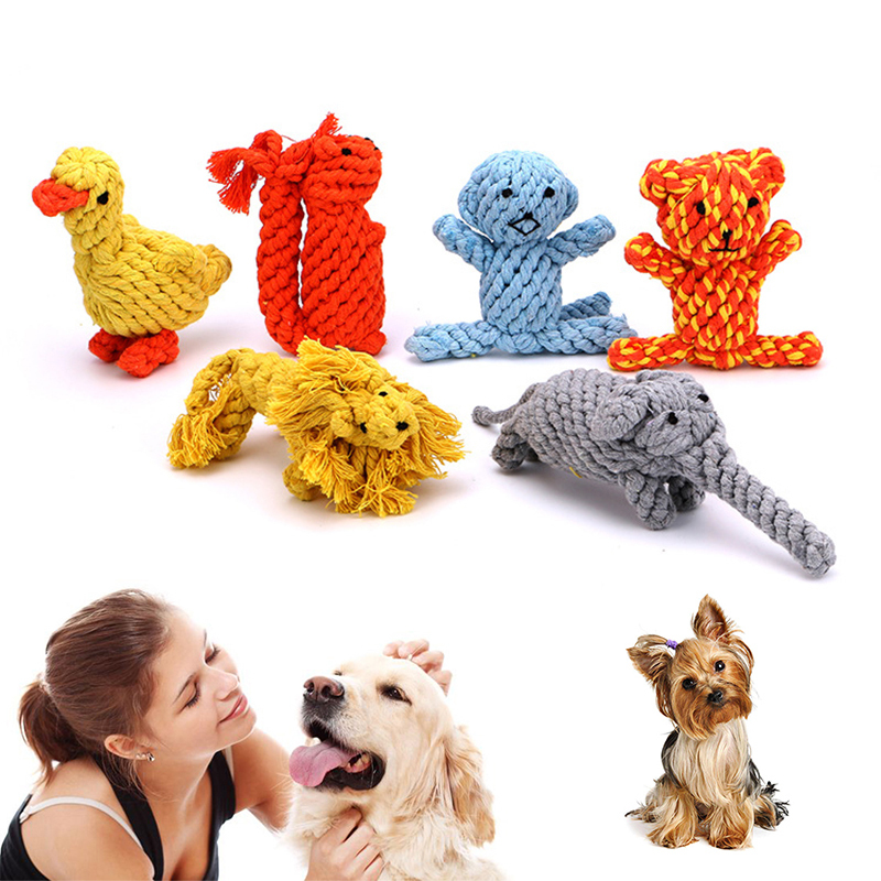 Cute Animal Shape Durable Cotton Dog Chew Toys Dog Toy Popular Toys Petshop Puppy Toys Pet Toys Dog Toys for Large Small Dogs