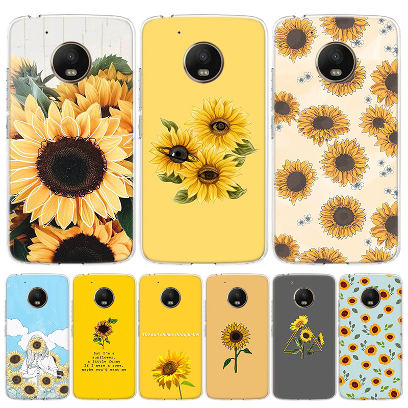 Aesthetics Sunflower Novelty Cover Phone Case For Motorola Moto G8 G7 G6 G5S G5 E6 E5 E4 Plus G4 Play EU One Action X4 Pattern C