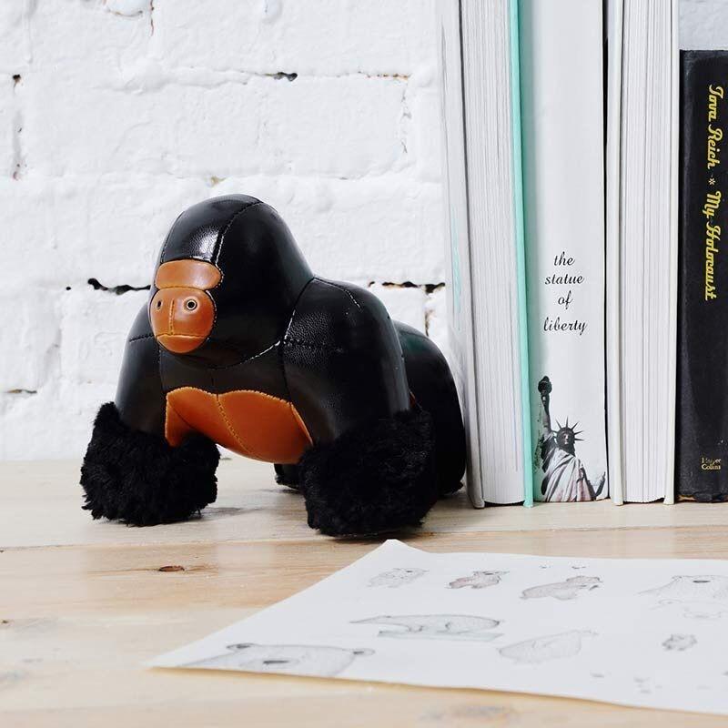 Cuir PU roi Kong ape serre livres presse papiers artisanat ornement Art décoration de la maison souvenir créatif personnaliser cadeau d'anniversaire - 1