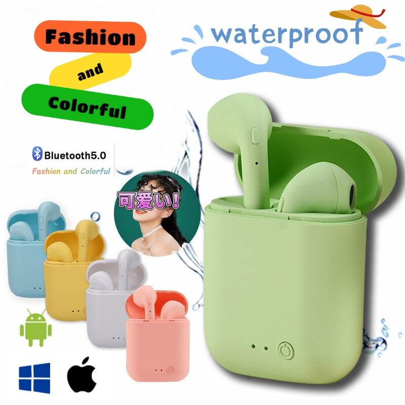 Беспроводные наушники I7Mini Tws, Bluetooth 5,0, матовые наушники, гарнитура с зарядным боксом, беспроводные наушники для Android Iso