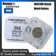 2PCS Relógio Renata Bateria 1.55V 395 SR927SW LR57 LR927 AG7 Baterias de óxido de Prata Botão Célula Tipo Moeda FABRICADO NA Suíça