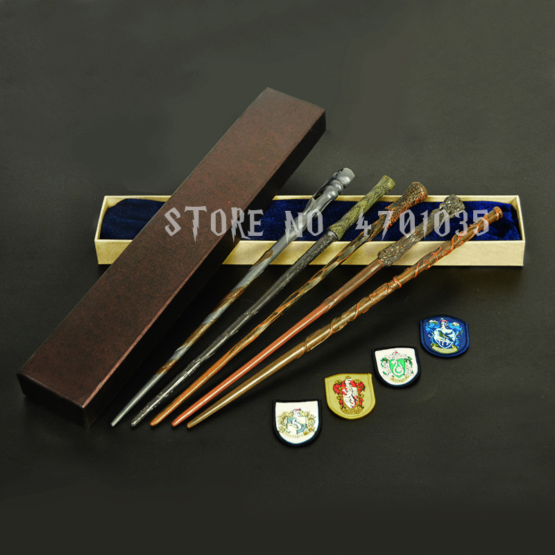 28 Kinds Of Potter Magic Wand With Gift Box Packing Metal-Core Magic Wand For Children Cosplay Harried Magical Wand With Gift