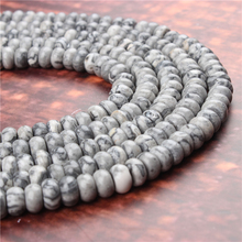 Natural Map Stone Gem 5x8x4x6MM Abacus Bead Spacer Bead Wheel Bead Accessory For Jewelry Making Diy Bracelet Necklace