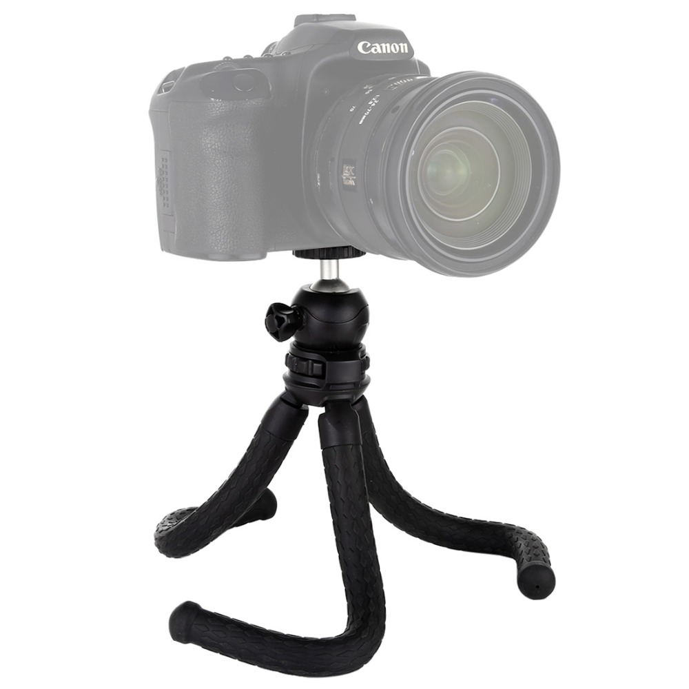 Hsifeng Mini Octopus Flexible Tripod Holder with Ball Head for SLR Cameras Cellphone Size: 25cmx4.5cm Hsifeng GoPro