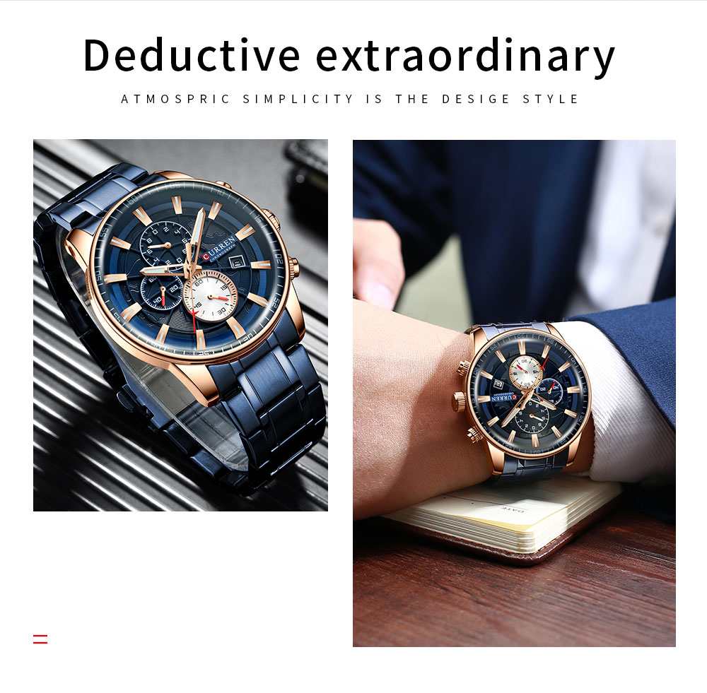 Hf9137342ec484937b846d6dbf7104e2a6 Men's Watches CURREN Top Luxury Brand Fashion Quartz Men Watch Waterproof Chronograph Business Wristwatch Relogio Masculino