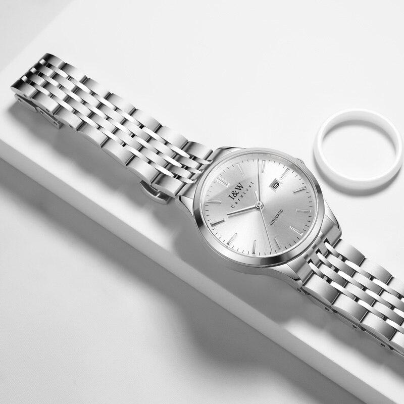 2020 Switzerland CARNIVAL Top Brand Luxury Fashion Sapphire Automatic Mechanical Women Watch Waterproof Sport Watch Montre Homme 3