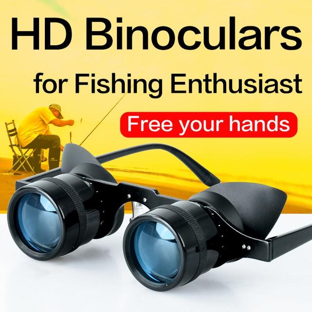 Fishing Binoculars Portable Telescope Zoom Magnifier Night Vision Binocular for Hunting Outdoor Tool 2