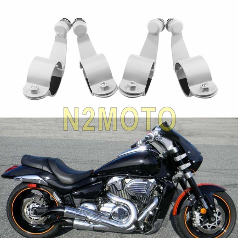 For Suzuki Boulevard M109R M109R2 M109RZ M50 M90 2006-2016 Windshield Mount Brackets Windscreen Mounting Clamps Kit Silver Black