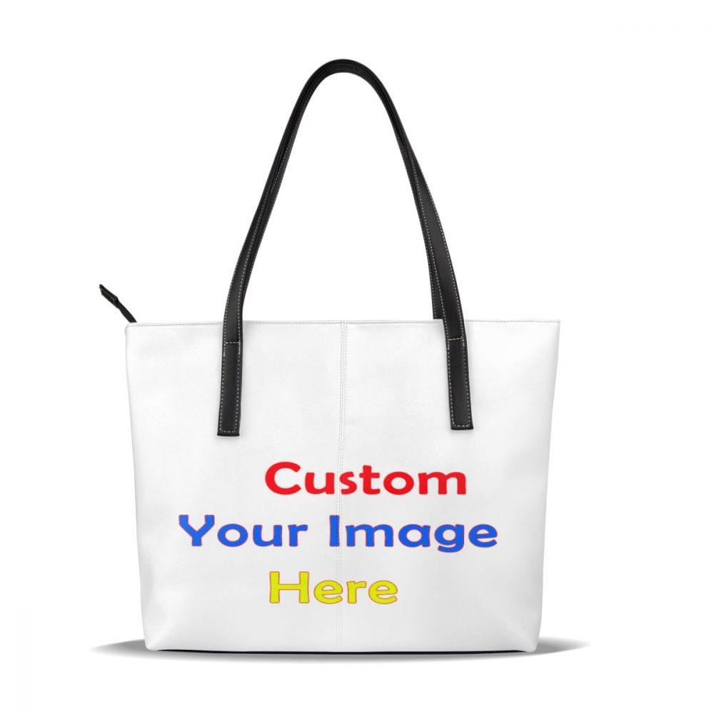 Femmes sac à bandoulière 3D personnaliser votre Image Logo motif sacs livraison directe dame grande PU fille ami sacs à main fourre-tout bandoulière