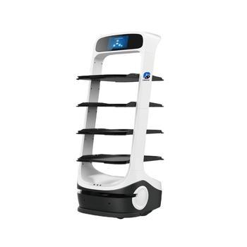 Niższa cena 7560-10800 USD wysokiej jakości T6 wyposażony w wiele czujników autonomiczna nawigacja Robot do serwowania żywności tanie i dobre opinie NoEnName_Null CN (pochodzenie) Wyświetlanie informacji ODTWARZANIE WIDEO