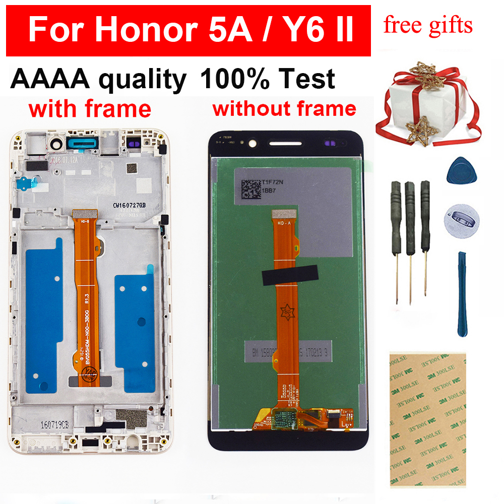LCD For Huawei 5A Y6 II CAM L23 CAM L03 CAM L21 CAM AL00 CAM TL00 LCD Display Screen Touch Screen Digitizer Assembly Frame|screen touch|display lcd touch screen|lcd screen display - title=