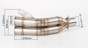 51MM Universal  Motorcycle Exhaust Muffler Pipe Escape moto  for  ER6N SV650 crf 230 Z800 R1 cb650f cb1000r CBF600