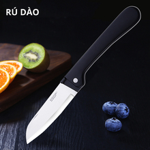 Kitchen Stainless Steel Folding Knife Pocket Knife Mini Portable Folding Knife Fruit Cutter Camping Knife Outdoor Survival Tool