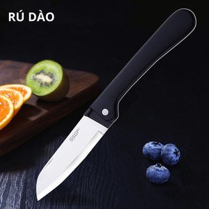 Image 1 - Kitchen Stainless Steel Folding Knife Pocket Knife Mini Portable Folding Knife Fruit Cutter Camping Knife Outdoor Survival Tool