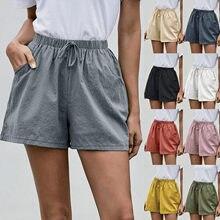 Pantalones cortos de estilo vintage para mujer, pantaloncitos femeninos de cintura alta, holgados con estilo salvaje Harajuku, de motociclista, spodenki damskie