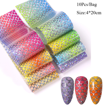 10 Pcs Rose Flowers Nail Foils Tropical Leaves Colorful Nail Decals Transfer Decorations Sets for Manicuring DIY Sticker Slide 33