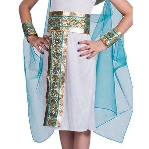 Image 4 - Disfraz de Halloween de Cleopatra azul para niños, Cosplay de Halloween con la espalda en el egipcio como la famosa reina, juego de rol histórico
