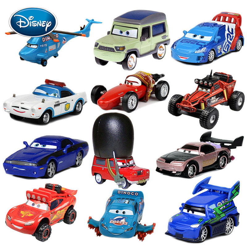 Disney Toy Car 3 Car 2 McQueen Car Toy 1:55 Die Cast Metal Alloy Model Toy Car 2 Children's Toys Birthday Christmas Gift