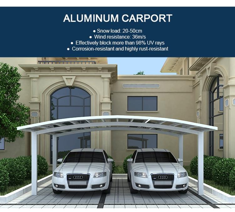 Waterproof Aluminum Polycarbonated Carport Car Shelter 5 5m Length X 6m Width X 3m Height Polycarbonate Carport Car Sheltercar Carports Aliexpress
