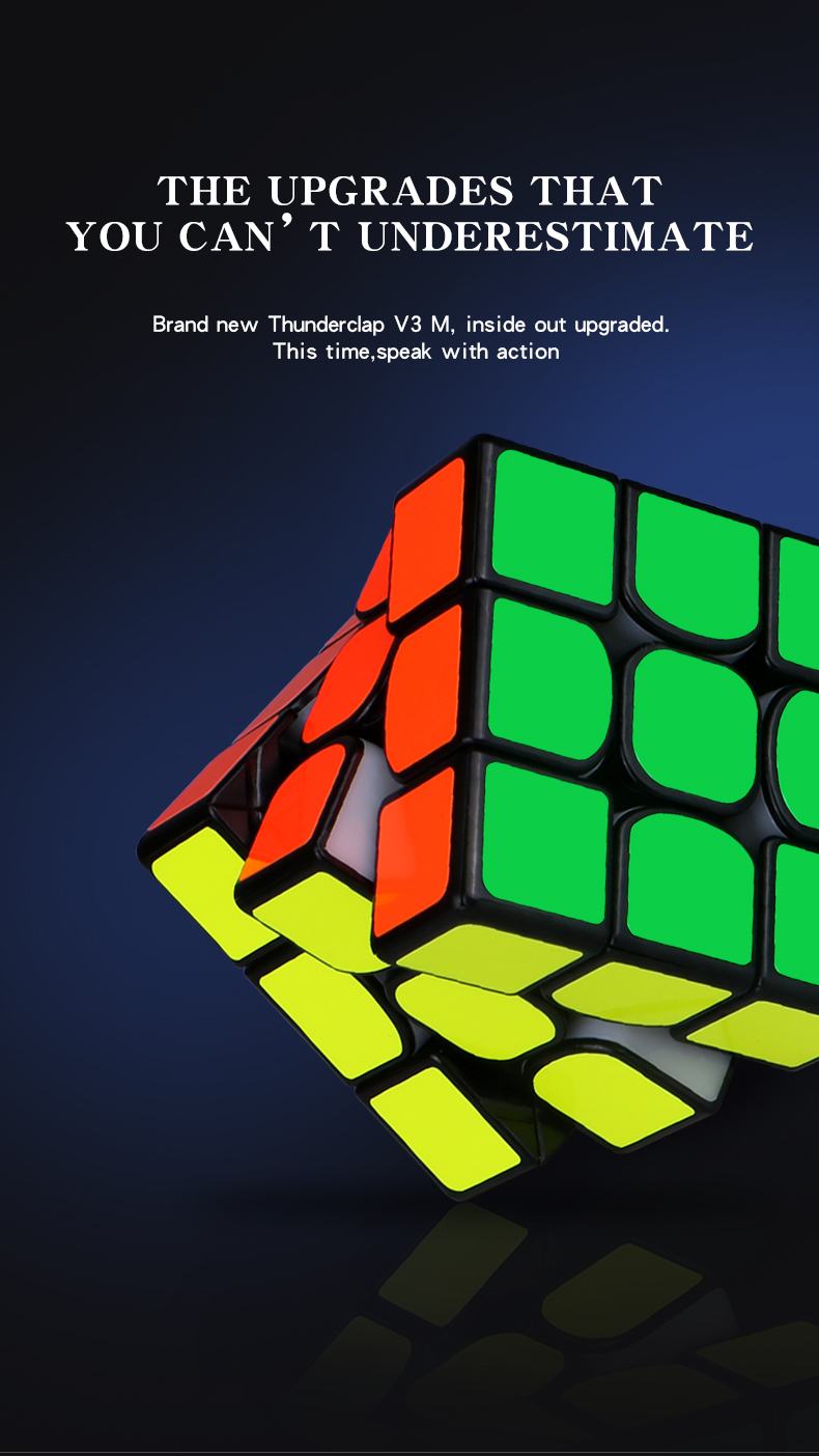 Cubo mágico magnético qiyi, cubo mágico profissional