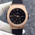 Luxe Merk Nieuwe Mannen Horloge Automatische Mechanische Roestvrij Staal Horloges Silver Grey Kalender Black Leather Rose Gold Rubber AAA
