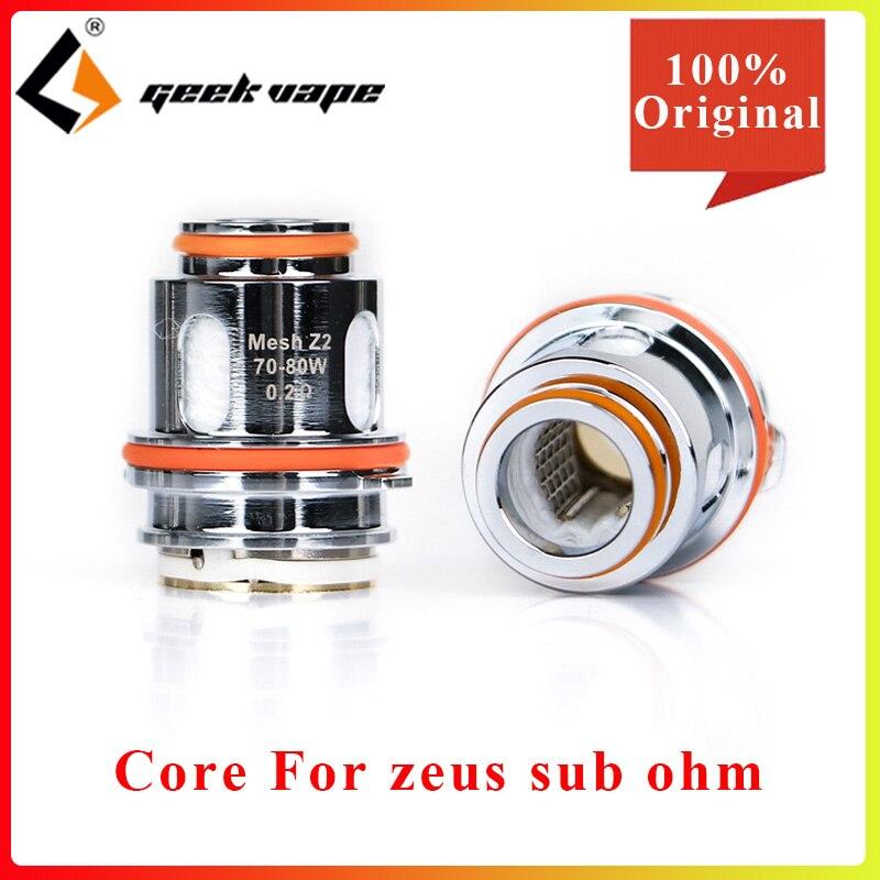5pcs GeekVape Z1 Z2 Mesh Coil 0.4ohm/0.2ohm Resistance Electronic Cigarette Vape Core For Geekvape Zeus Sub Ohm Tank Atomizer