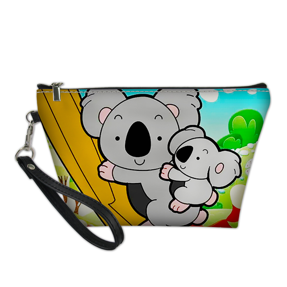 THIKIN 2019 New Arrival Cartoon Koala Print Make Up Bag For Women Ladies Daily Cosmetic Case Girls Travel Pouch Custom Pattern
