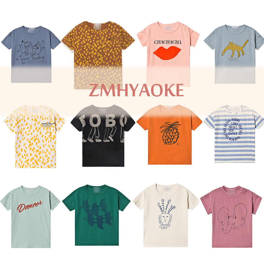 Pre-sale ZMHYAOKE-Bobo Ch* 2020  Summer Baby Girls T-shirt Christmas Clothing Fashion T-shirt for Boys Thanksgiving Girls Tops