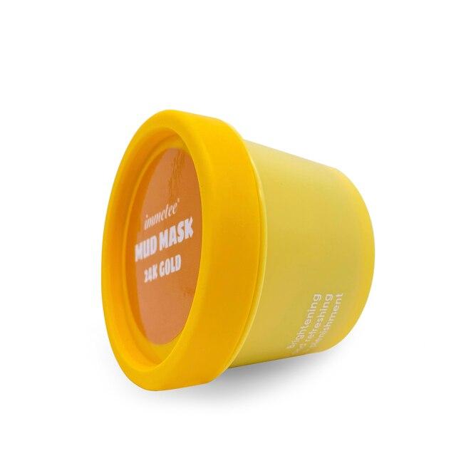 1pcs 100g 24K Gold Mud Mask Deep Cleansing Mask Shrink Pore Removal Blackhead Moisturizing Peel Mask Facial Skin Care Products 4