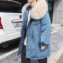 Зимняя куртка мужская парка Теплая модная повседневная обувь