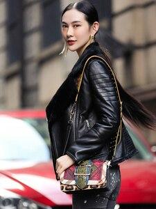 Image 3 - AYUNSUE 100% płaszcz z prawdziwej skóry owczej kobiet naturalne futro z owczej skóry płaszcze 2020 kurtka zimowa kobiety kurtka z prawdziwej skóry MY3742