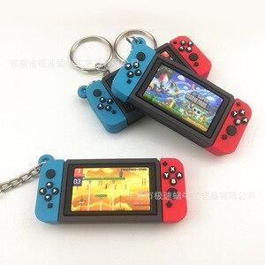 Игровой супер брелок для ключей Марио Творческий игровой консоли Nintendo Switch Модель ПВХ из мягкой резины, брелки для ключей, модная сумка украш...