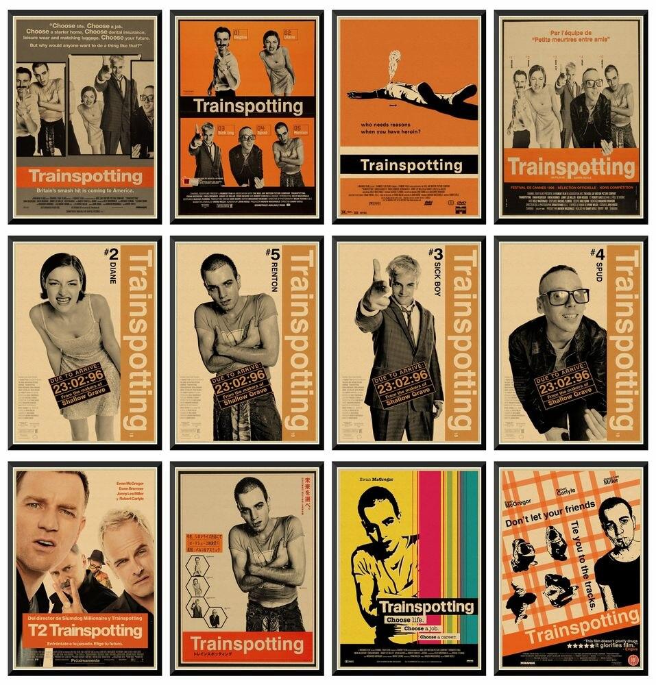 Тренировка Ewan McGregor классический постер фильма крафт-бумага бар постер Ретро плакат декоративной живописи 42X30cm
